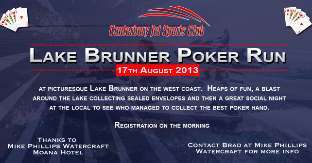 Brunner Poker Run